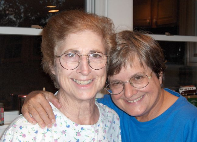 Sister Margaret Maggio with Sister Helen Prejean